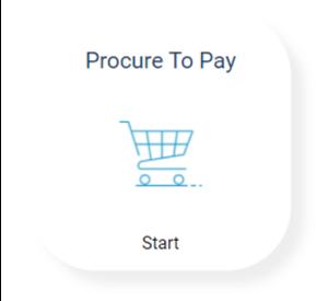 Screenshot of Procure to Pay start button.